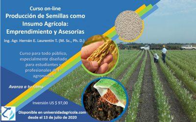 Producción de semillas como insumo agrícola: emprendimientos y asesorías